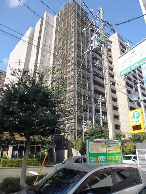 福岡市内マンションの大規模改修現場です。