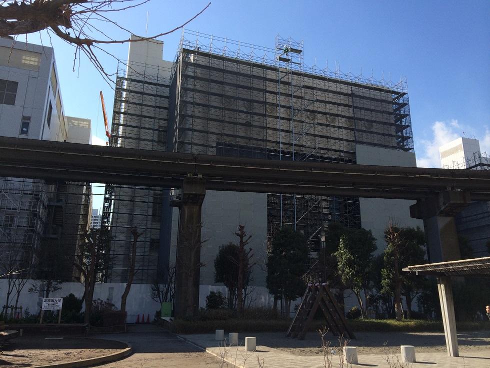 田町駅前の再開発工事現場の追記情報