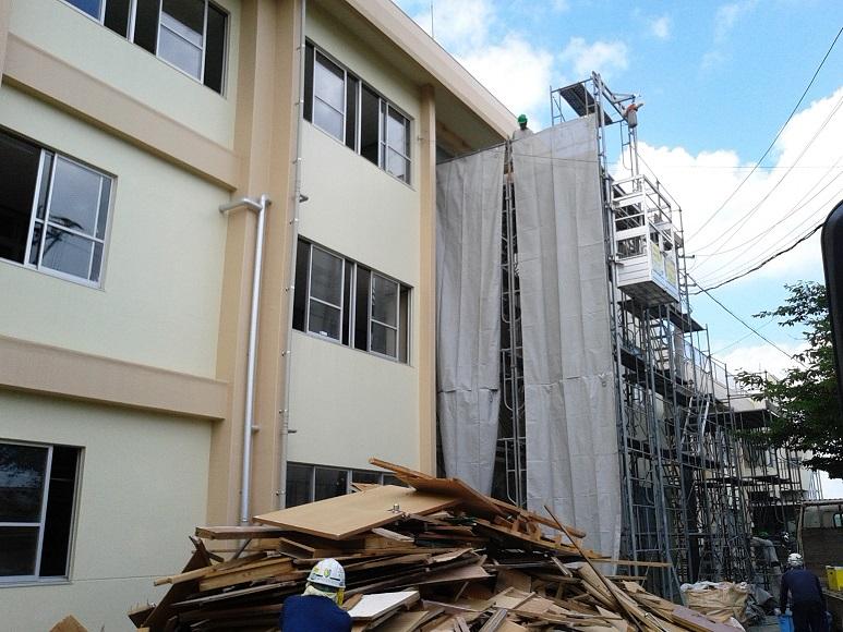 小学校の校舎の内部大規模改修工事でのご利用