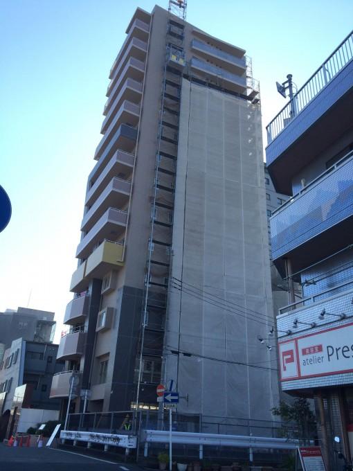 浦和の駅前にて足場解体用に足場工事会社よりリピートしていただきました
