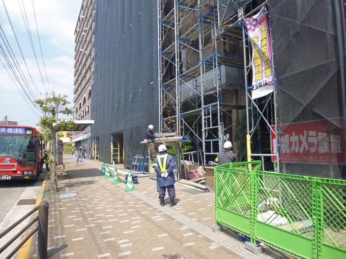長崎市内マンション大規模改修現場です。