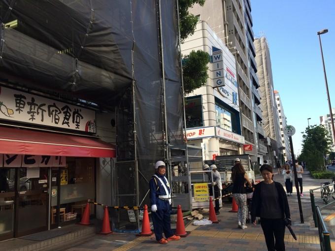 東新宿駅前にて猿鳶太助Ⅱ型を取付しました。