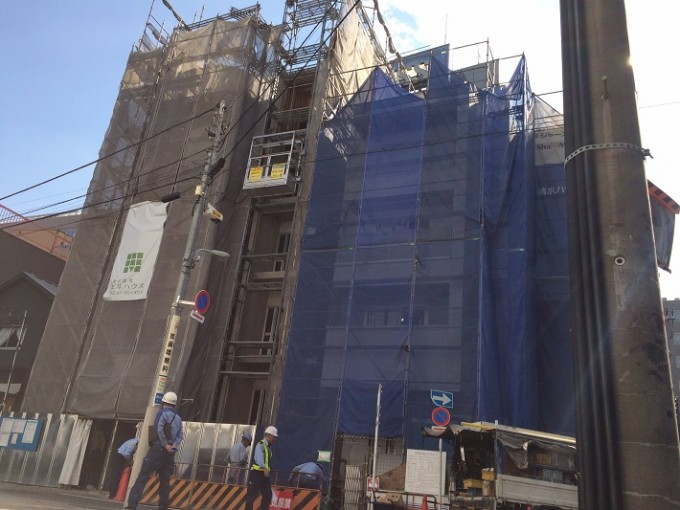 東京都内のビルの新築工事にご利用いただいています