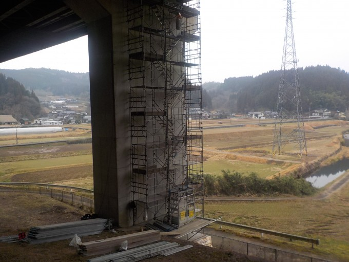 橋梁吊り足場工事